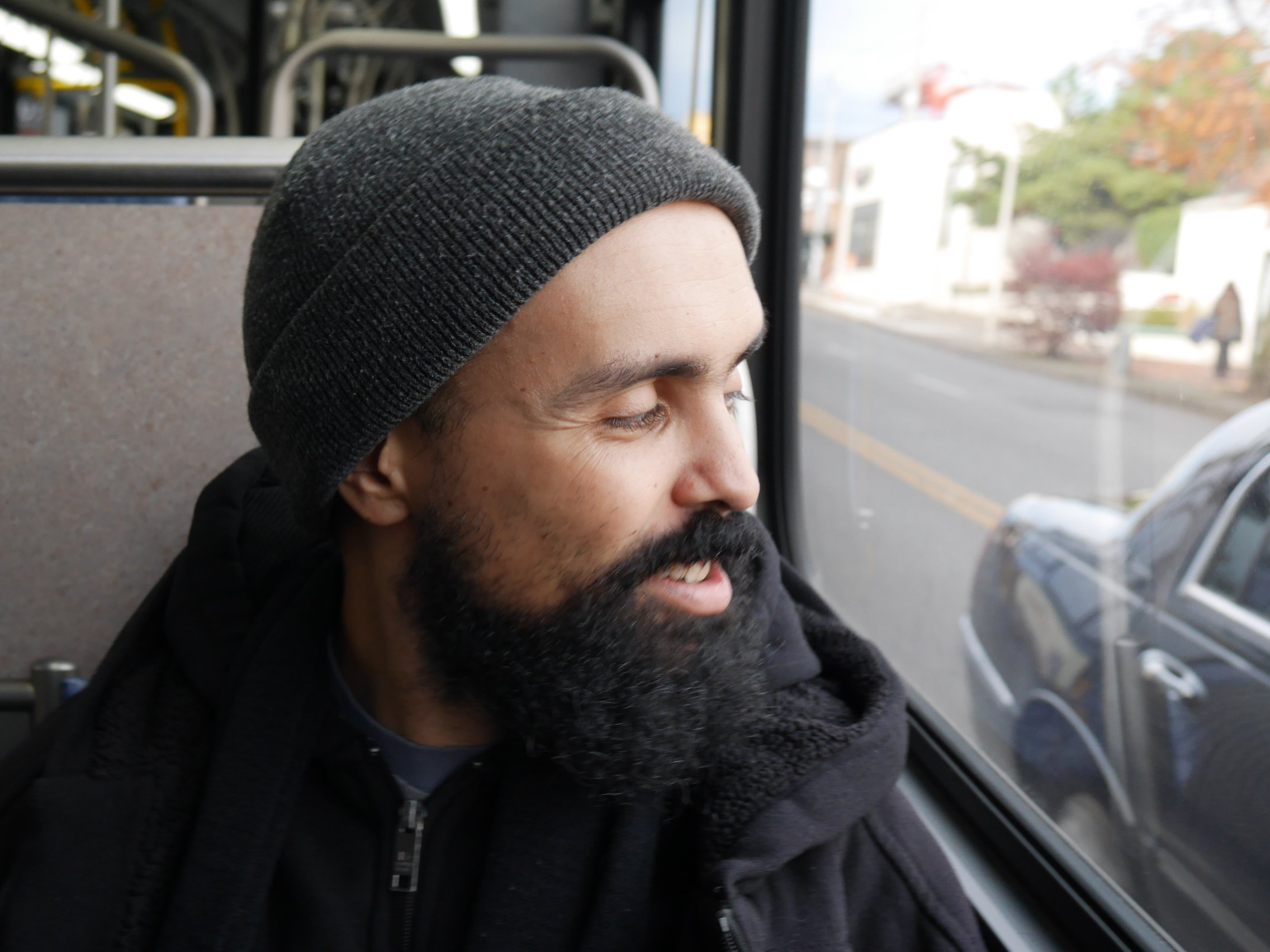 Gabriel Teodros and Carla Saulter are Seattle-born bus companions.